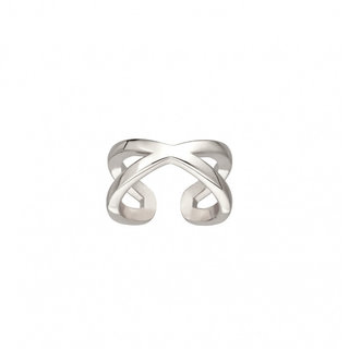 Crossover ear cuff - 925 zilver