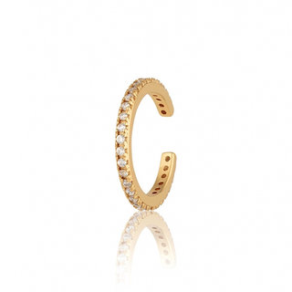 Ear cuff Sparkle Pave - gold plated