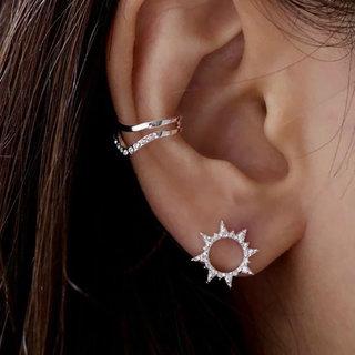 Ear Cuff Chevron Double - 925 zilver