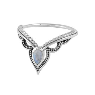 Moonstone ring Goddess - 925 zilver