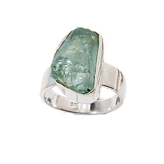 Rough Aquamarine Ring