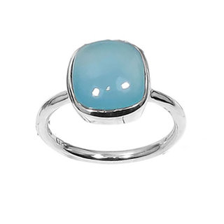 Light Blue Chalcedony ring