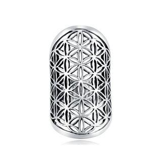Boho ring Flower of life - 925 zilver