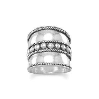 Bali ring Rope - 925 zilver