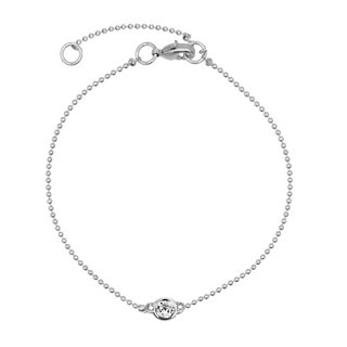 Ball Chain Crystal armband - 925 zilver