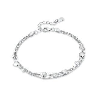 Armbandje Silver hearts - 925 zilver