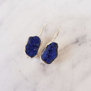 Blue Rough earrings - 925 zilver