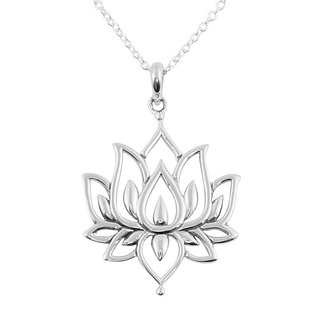 White lotus necklace - 925 zilver