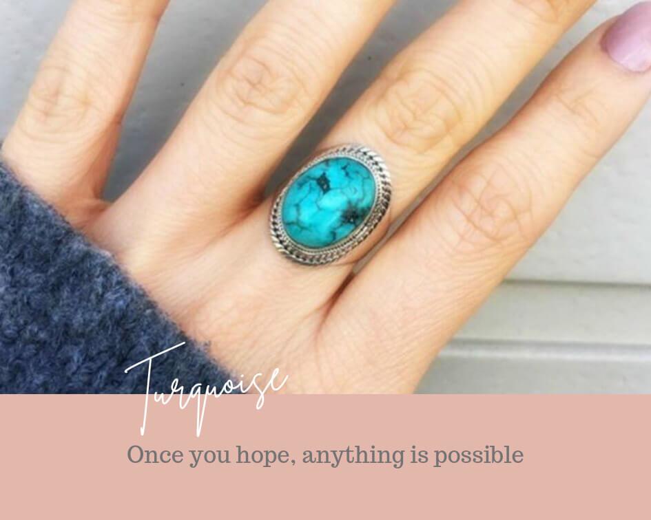 edelsteen turquoise sieraden