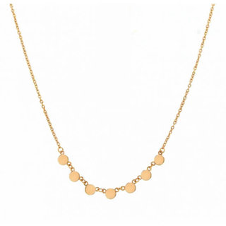 Tiny disc choker - goldplated