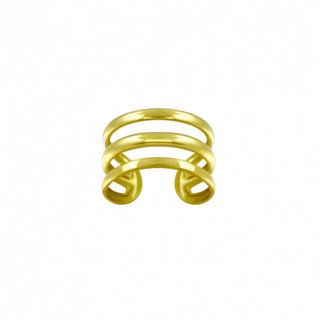 Triple earcuff - goldplated