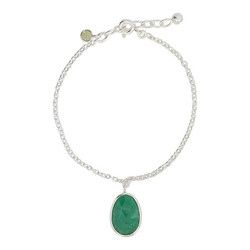 Elegant gemstone bracelet - 925 zilver