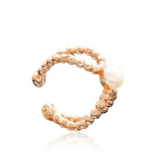 Earcuff Pearly - goldplated