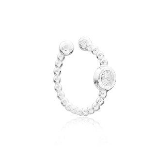 Earcuff Diamond Dot - zilver