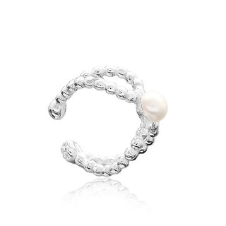 Earcuff pearly - zilver