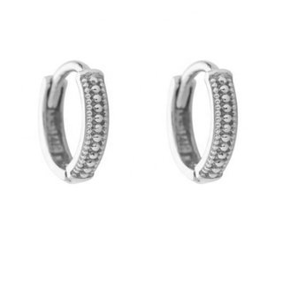 Hugging hoops Aliah  9mm- 925 zilver