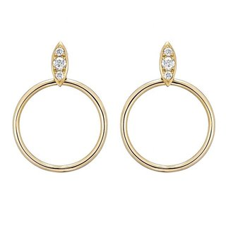 Sparkly circle earrings - goldplated