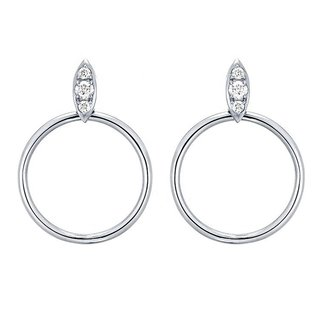 Sparkly circle earrings - 925 zilver