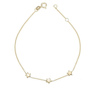 Triple star armband - goldplated