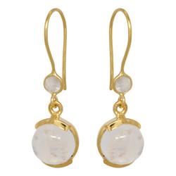 Double Moonstone Earrings - goldplated