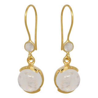 Double Moonstone Earrings - goldplated