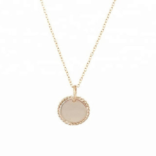 Initial Coin ketting - goldplated