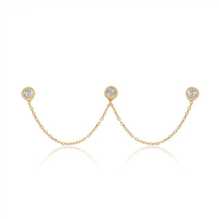 Trio studs - goldplated