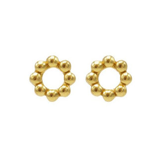 Circle Dots studs - goldplated