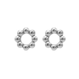 Circle Dots studs - 925 zilver