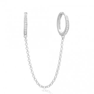 PRE-ORDER Double Pave earrings - 925 zilver