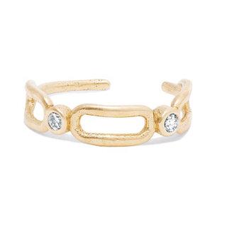 Ear Cuff Cristalito - goldplated