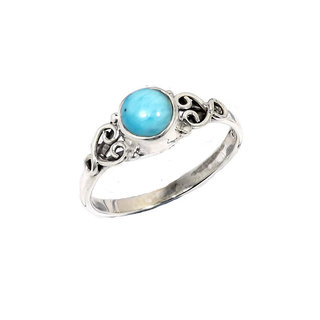 Larimar Heart ring - 925 zilver