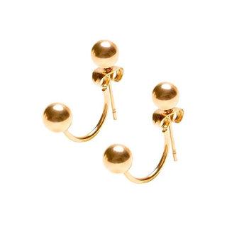 Double Ball earjacket - goldplated