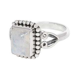 Ring Moonstone Square