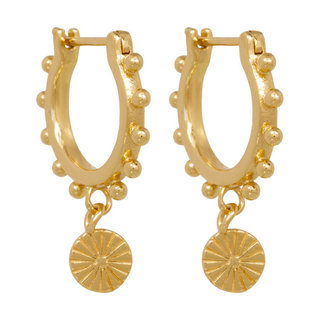 Sunrise earrings - goldplated