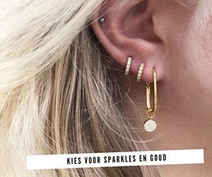 gouden oorbellen combinatie