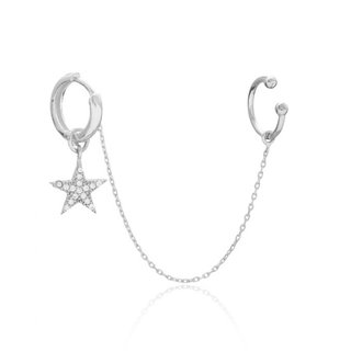 Earcuff Threader Star - 925 zilver
