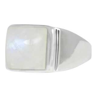 Diamond square ring - 925 zilver