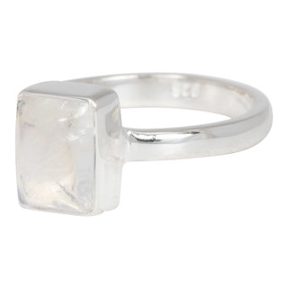 Little diamond square ring - 925 zilver