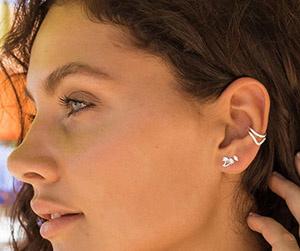 dubbele nep piercing