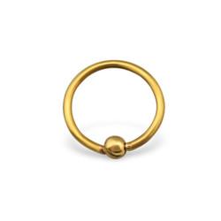 Basic piercing bead - goud