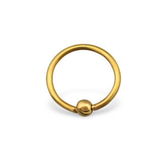 Basic piercing bead - goud