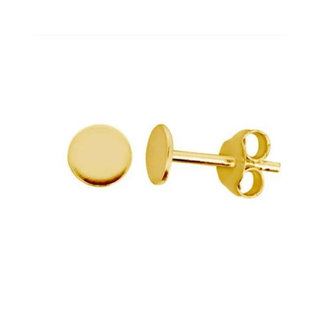 Little disc studs - goldplated