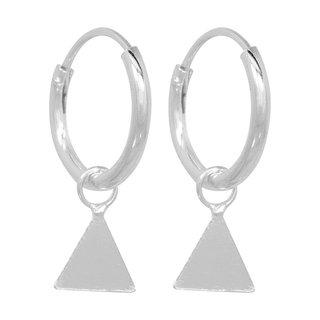 Oorringetjes Triangle - 925 zilver