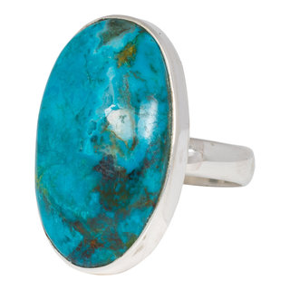 Chrysocolla ring - 925 zilver
