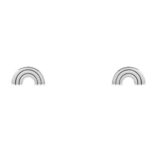 Rainbow oorknopjes - 925 zilver