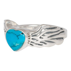 Angel wing ring Turquoise