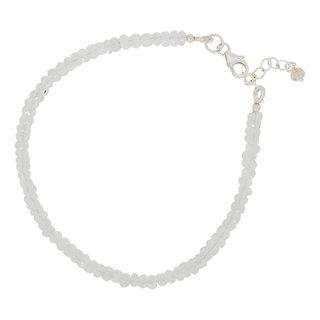 Armbandje Moonstone beads - 925 zilver