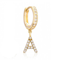 *Pre-order* Sparkly Initial Earring (A-Z) - goldplated