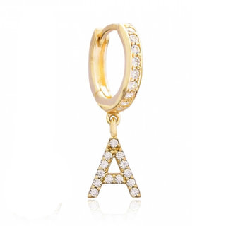Sparkly Initial Earring (A-Z) - goldplated